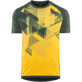 ION Traze AMP Bike Jersey Shortsleeve Men yellow/green